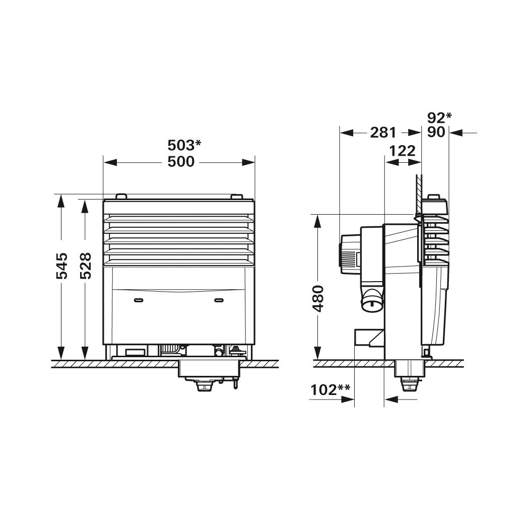 truma s3004 gas fire heater  auto ignition   caravan
